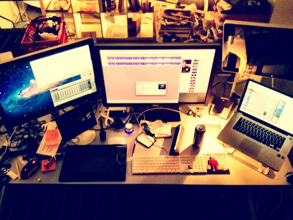 Teymurs Schreibtisch
